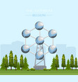 the atomium landmark building in brussels vector image vector image
