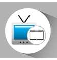 touchpad digital television wireless vector image vector image