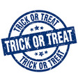 trick or treat blue round grunge stamp vector image vector image