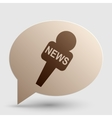 TV news microphone sign Brown vector image vector image