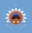 usa native american image vector image