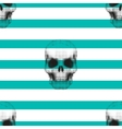 Vintage hipster seamless pattern with skull vector image vector image