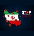 virus around iran vector image
