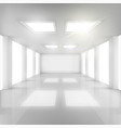 White Room with Windows in Walls and Ceiling vector image