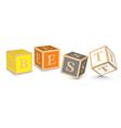 Word BEST written with alphabet blocks vector image vector image