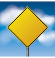 Yellow Blank Road Sign vector image