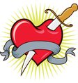 Knife in Heart vector image