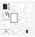 Grey stars corporate identity template vector image