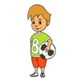 Boy with soccer ball vector image