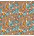 vintage style floral wallpaper vector image