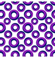 a pattern blue and pink rings vector image