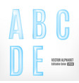 abstract letters of the alphabet vector image vector image