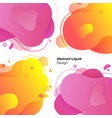 abstract liquid design set posters template vector image vector image