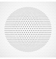 abstract sphere icon dots pixelated halftone vector image