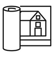 architect house project icon outline style vector image vector image