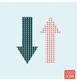 Arrow icon isolated vector image vector image