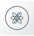 atomic energy icon line symbol premium quality vector image