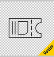 black line cinema ticket icon isolated on vector image vector image