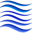Blue water symbol element design set vector image vector image