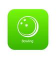 bowling ball icon green vector image