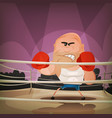champion boxer on the ring vector image vector image