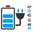 Charge Battery Icon With Free Bonus vector image vector image