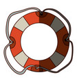 colorful flotation hoop with tether and middle vector image vector image