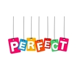colorful hanging cardboard Tags - perfect vector image vector image
