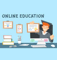 colourful online education the vector image