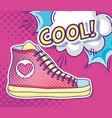 cool shoe pop art vector image