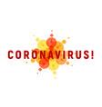 coronavirus isolated icon for infographics vector image