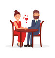 couple of lovers sitting at table in restaurant vector image vector image