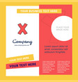 cross company brochure template busienss template vector image