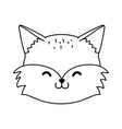 cute fox woodland character vector image vector image