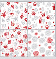 cute hand drawn winter holiday seamless pattern vector image vector image