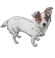 dog black and white vector image