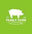 emblem of a family farm with premium fresh pork vector image