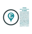 Euro Bank Map Pointer Rounded Icon with 1000 Bonus vector image vector image