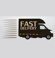 fast delivery icon truck vector image vector image