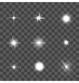 Glowing Light Effect Set vector image vector image