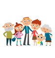 happy big family in love vector image vector image