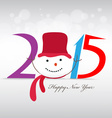 happy new year and merry christmas with snowman vector image vector image