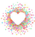 heart - paper color abstract vector image vector image