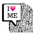 I love me background vector image vector image