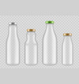 jar glass bottles transparent packages for drinks vector image vector image