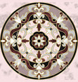 luxury pink marble mosaic classic seamless pattern vector image vector image