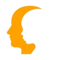 Man and Woman Face Profile Silhouette vector image