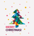 merry christmas card in modern vector image vector image