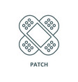 Patch line icon linear concept outline