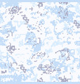 seamless snow camouflage of pixel pattern vector image vector image